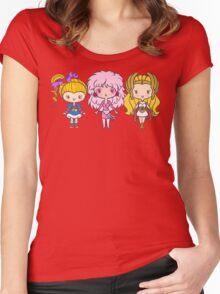 Lil' CutiEs - Eighties Ladies Women's Fitted Scoop T-Shirt