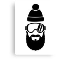 Ski goggles full beard Canvas Print