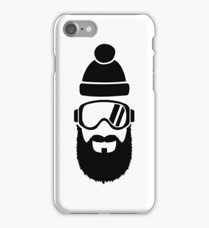 Ski goggles full beard iPhone Case/Skin