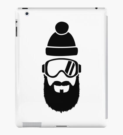 Ski goggles full beard iPad Case/Skin