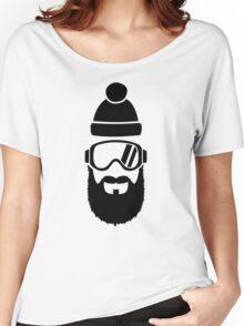 Ski goggles full beard Women's Relaxed Fit T-Shirt