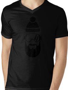 Ski goggles full beard Mens V-Neck T-Shirt