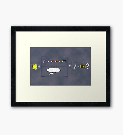 Equation of Life Poster Framed Print