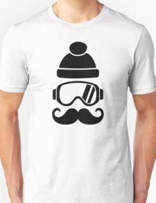 Ski snowboard hat mustache Unisex T-Shirt