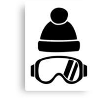 Ski goggles hat Canvas Print