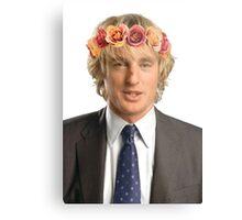 Owen Wilson Flower Crown Metal Print