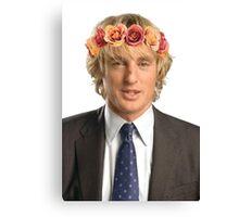 Owen Wilson Flower Crown Canvas Print