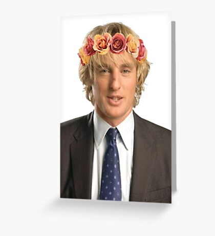 Owen Wilson Flower Crown Greeting Card