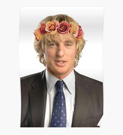 Owen Wilson Flower Crown Poster