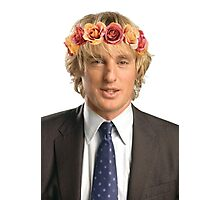 Owen Wilson Flower Crown Photographic Print