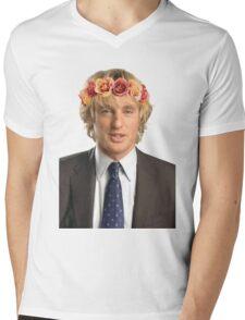 Owen Wilson Flower Crown Mens V-Neck T-Shirt