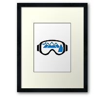 Ski goggles mountains Framed Print