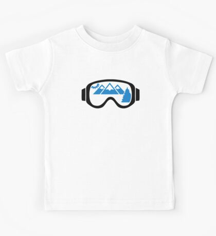Ski goggles mountains Kids Tee