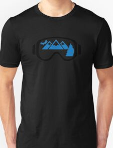 Ski goggles mountains Unisex T-Shirt
