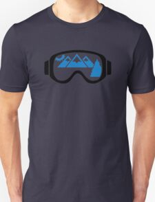Ski goggles mountains Unisex T-Shirt