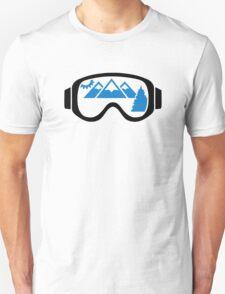 Ski goggles mountains T-Shirt