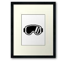 Skiing goggles Framed Print