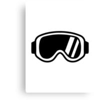 Skiing goggles Canvas Print