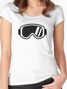 Skiing goggles Women's Fitted Scoop T-Shirt