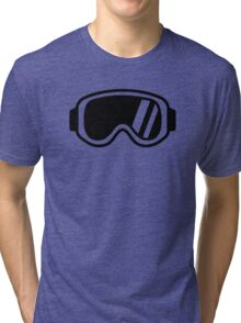 Skiing goggles Tri-blend T-Shirt