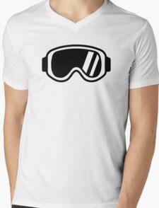 Skiing goggles Mens V-Neck T-Shirt
