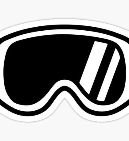 Skiing goggles Sticker