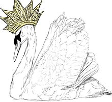 White Swan Queen - Gold Crown by FTML
