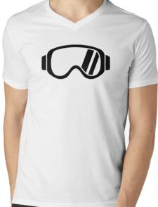 Ski goggles Mens V-Neck T-Shirt