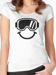 Ski smiley Women's Fitted Scoop T-Shirt