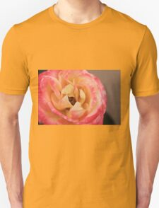 Pink And Yellow Rose T-Shirt