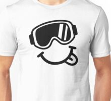 Ski smiley face Unisex T-Shirt