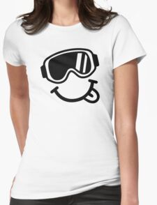 Ski smiley face Womens Fitted T-Shirt