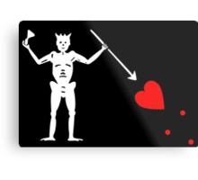 Edward Teach Pirate Flag Metal Print