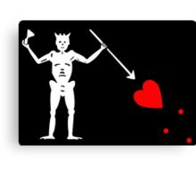 Edward Teach Pirate Flag Canvas Print