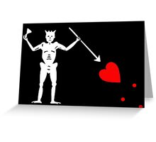 Edward Teach Pirate Flag Greeting Card