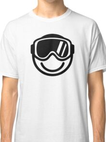Ski snowboard smiley Classic T-Shirt