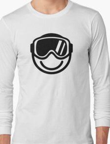 Ski snowboard smiley Long Sleeve T-Shirt