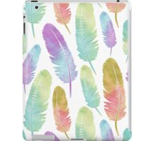 Boho Feather Pattern Watercolor Rainbow iPad Case/Skin
