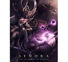 Syndra the Sovereign of Shadow - LoL Photographic Print