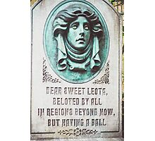 Dear Sweet Leota Photographic Print