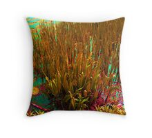 Abstract canal colours Throw Pillow