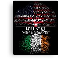 Riley - American Grown with Irish Roots Canvas Print