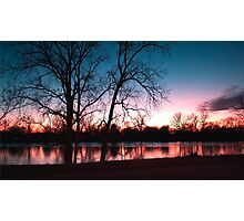 Banks of the wabash sunset  Photographic Print