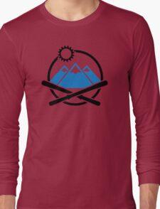 Crossed ski mountains Long Sleeve T-Shirt