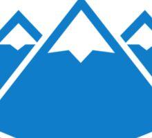 Crossed ski mountains Sticker