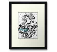 pouring your heart out  Framed Print