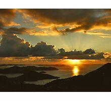Bordeaux Mountain Sunrise Photographic Print