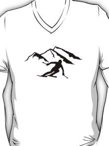 Downhill skiing mountains T-Shirt