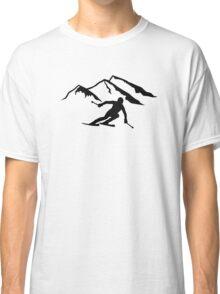 Downhill skiing mountains Classic T-Shirt