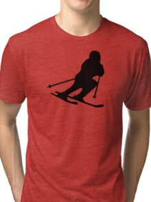Downhill skiing Tri-blend T-Shirt